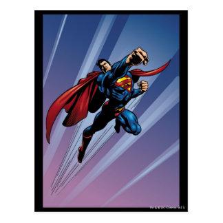 Superman with light streaks postcard