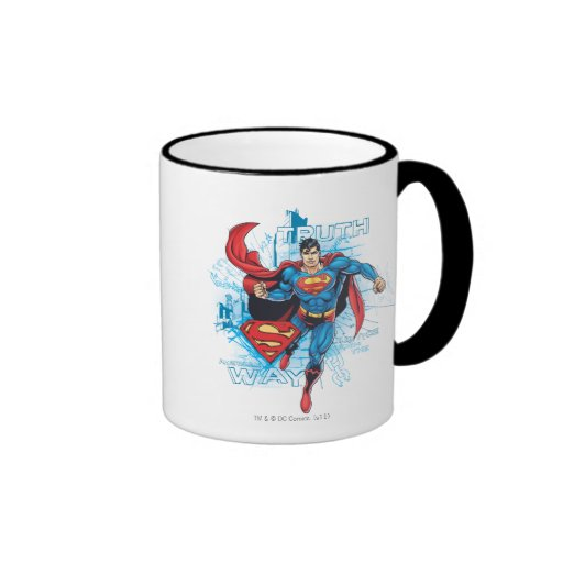 Superman with Logo Coffee Mug
