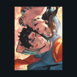 """Superman/Wonder Woman Comic Cover #11 Variant Canvas Print<br><div class=""""desc"""">Customize your product featuring the comic book cover for Superman/Wonder Woman New 52 Issue #11. Superman takes a selfie of himself and Wonder Woman flying through the clouds at sunset. Superman is covered in lipstick marks from Wonder Woman&#39;s kisses, and she wraps her arm around his neck and leans in...</div>"""