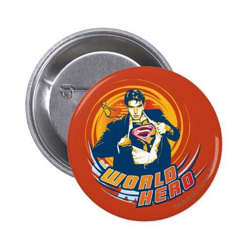 Superman World Hero Pinback Buttons