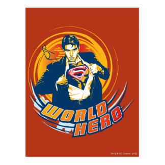 Superman World Hero Postcard