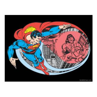 Superman X-Ray Vision Postcard