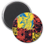 Superman Yellow and Red 2 Inch Round Magnet