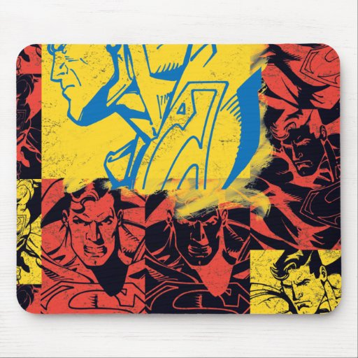 Superman Yellow and Red Mouse Pad