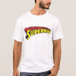 Superman | Yellow Red Letters Logo T-Shirt