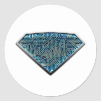 SuperManTechnology Classic Round Sticker