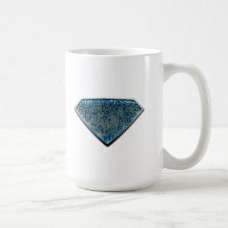 SuperManTechnology Classic White Coffee Mug