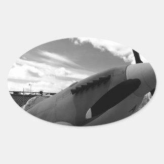 Supermarine Spitfire Oval Stickers