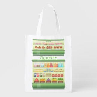 Supermarket Coolers of Food Market Totes