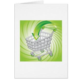Supermarket Shopping Cart Greeting Card