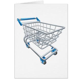 Supermarket shopping cart trolley card