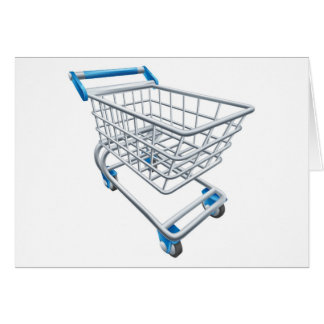 Supermarket shopping cart trolley cards