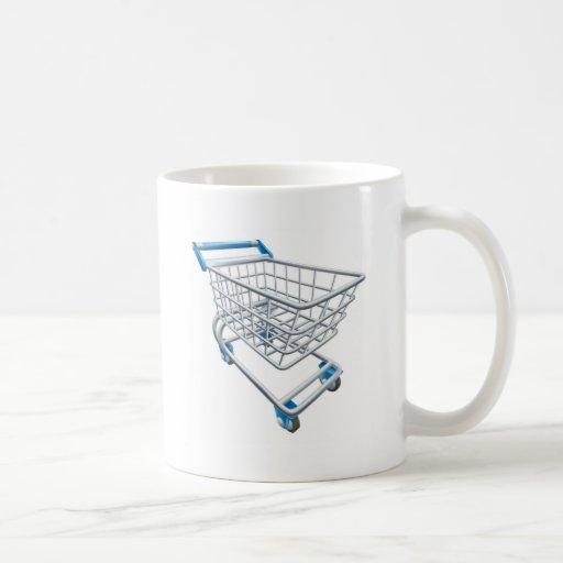 Supermarket shopping cart trolley coffee mug
