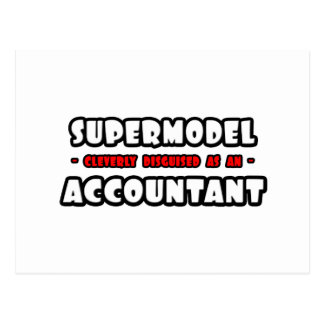 Supermodel .. Accountant Postcard