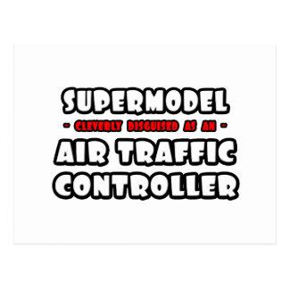 Supermodel .. Air Traffic Controller Postcard