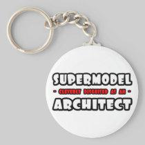 Supermodel .. Architect Basic Round Button Keychain