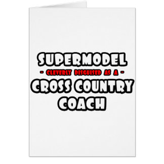 Supermodel .. Cross Country Coach Greeting Card
