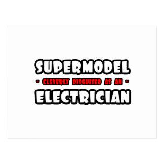 Supermodel .. Electrician Postcard
