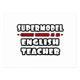 Supermodel .. English Teacher Postcard