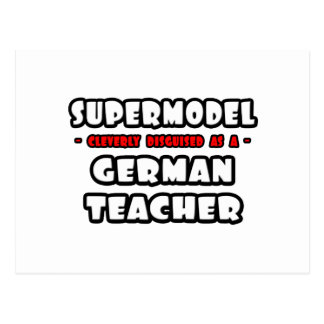 Supermodel .. German Teacher Postcard