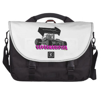 Supermodified w/pink letters laptop bags