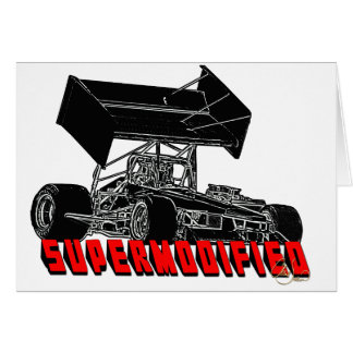Supermodified w red letter greeting card