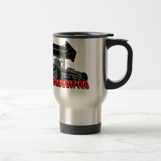 Supermodified w/red letter travel mug