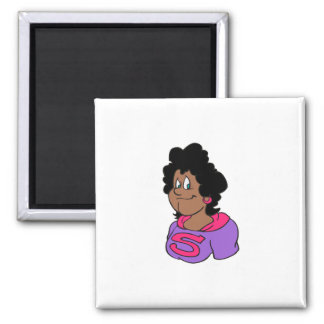 Supermom African 2 Inch Square Magnet