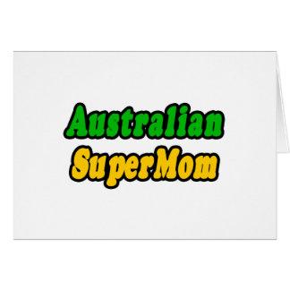 SuperMom australiano Tarjeta De Felicitación