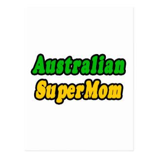 SuperMom australiano Tarjetas Postales