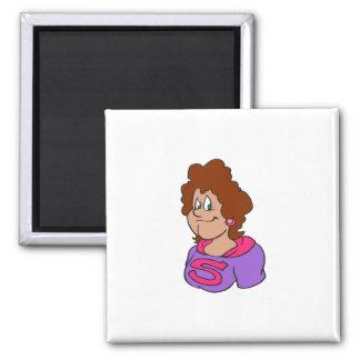 Supermom Brunette 2 Inch Square Magnet