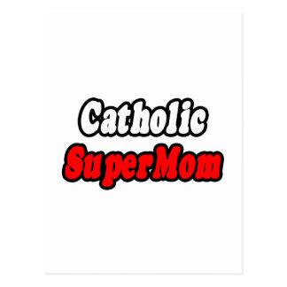 SuperMom católico Postal