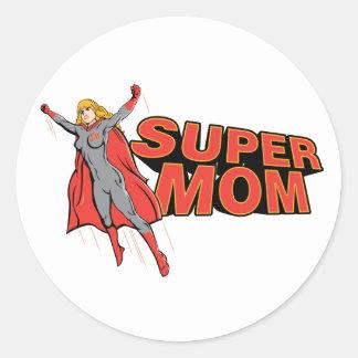 Supermom Classic Round Sticker