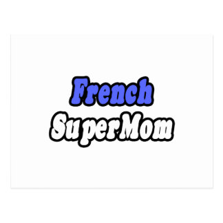 SuperMom francés Tarjeta Postal