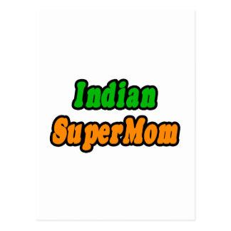 SuperMom indio Tarjeta Postal