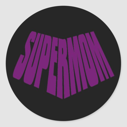 SuperMom: Mi madre es mi superhéroe Pegatina Redonda
