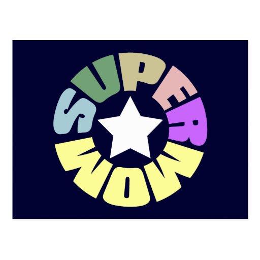 SuperMom: Mi madre es mi superhéroe Tarjetas Postales