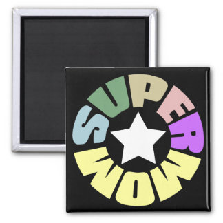 SuperMom: My mother is my super hero 2 Inch Square Magnet