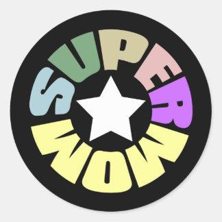 SuperMom: My mother is my super hero Classic Round Sticker