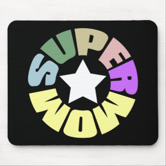 SuperMom: My mother is my super hero Mouse Pad