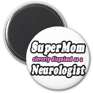 SuperMom...Neurologist 2 Inch Round Magnet