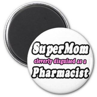 SuperMom...Pharmacist 2 Inch Round Magnet