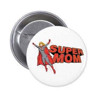 Supermom Pin Redondo 5 Cm