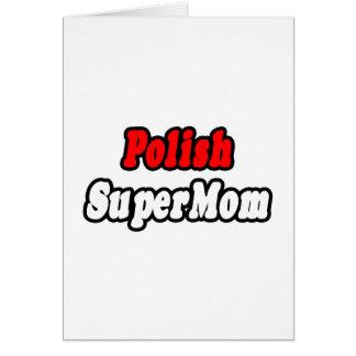 SuperMom polaco Tarjeta De Felicitación