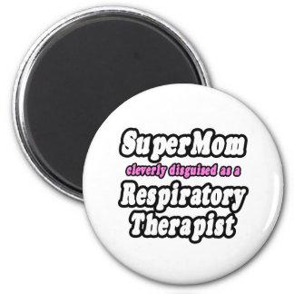 SuperMom...Respiratory Therapist 2 Inch Round Magnet