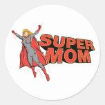 Supermom Round Stickers