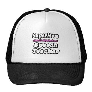 SuperMom...Speech Teacher Mesh Hat