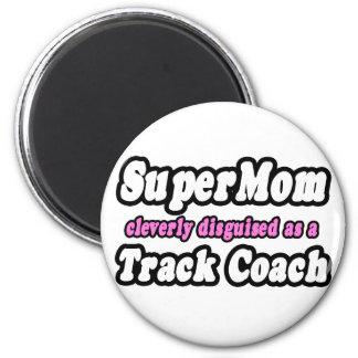 SuperMom...Track Coach 2 Inch Round Magnet