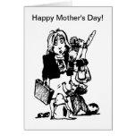 Supermom: Una mamá que lo hace todo Felicitación