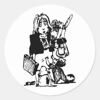 Supermom: Una mamá que lo hace todo Pegatina Redonda